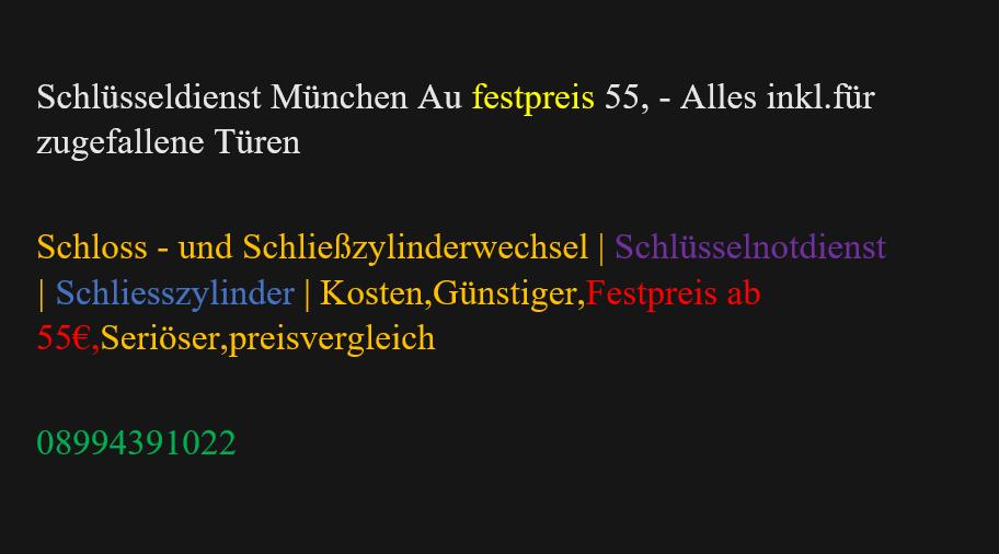 Schlüsselnotdienst Schließzylinderwechsel Schliesszylinder Schlüsseldienst München Au Festpreis Kosten,Günstiger,Festpreis,Seriöser,preisvergleich